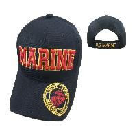 Licensed MARINE Hat [Seal on Bill] Black